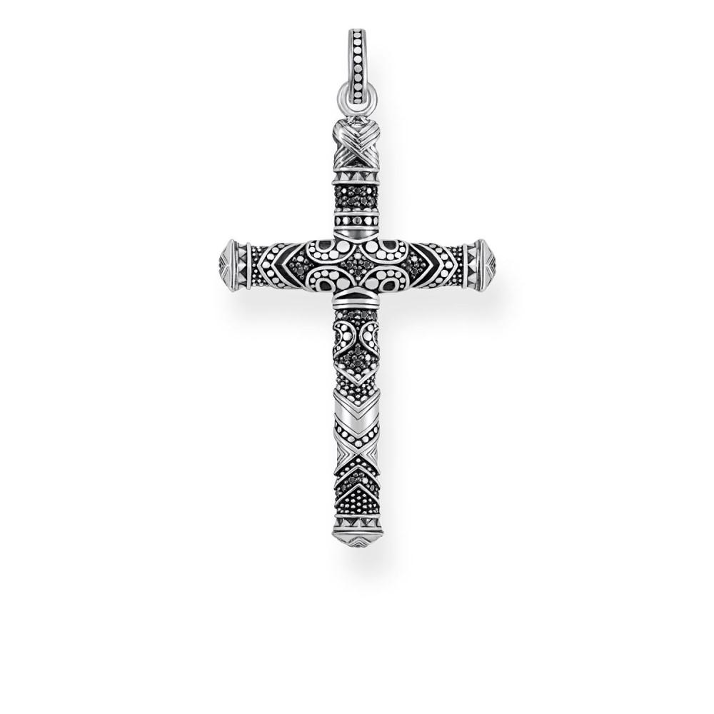 トーマスサボ レディース ジュエリー・アクセサリー【Rebel At Heart Maori Cross Pendant】black
