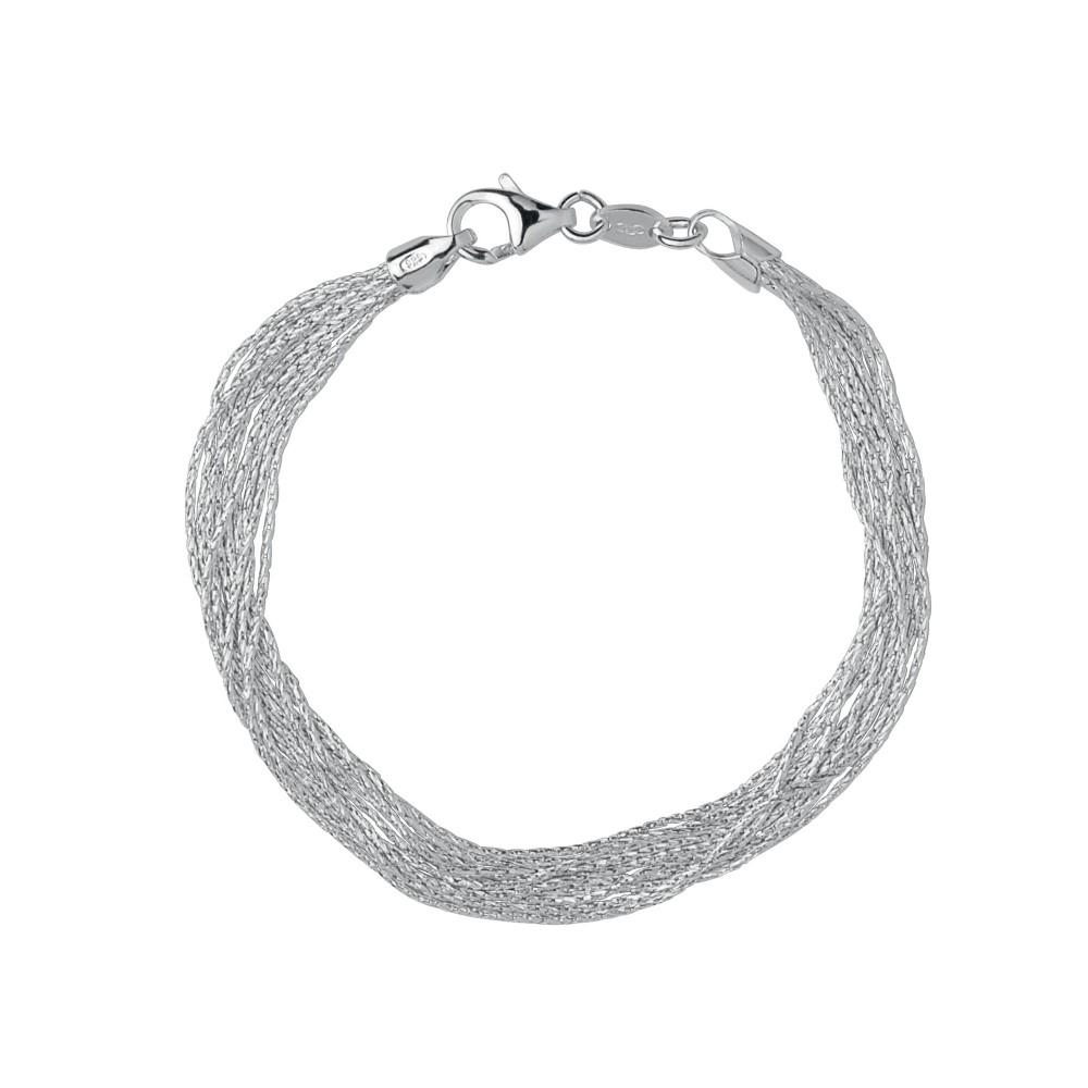 リンクス オブ ロンドン レディース ジュエリー・アクセサリー ブレスレット【Silk 10 Row Bracelet】silver
