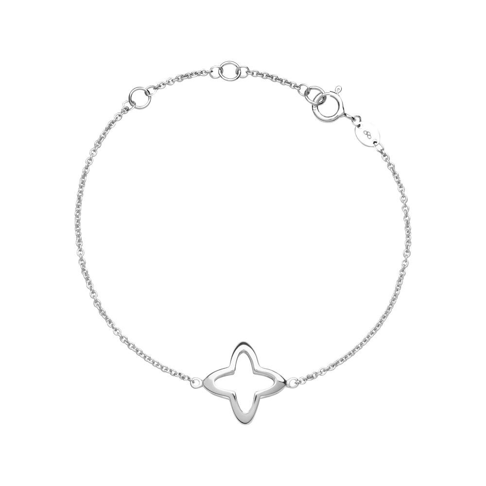 リンクス オブ ロンドン レディース ジュエリー・アクセサリー ブレスレット【Splendour Sterling Silver Open Four-point Star Br】silver
