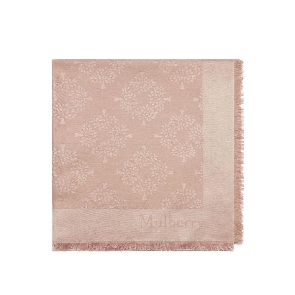 マルベリー レディース マフラー・スカーフ・ストール【Mulberry Tree Square Scarf】pink
