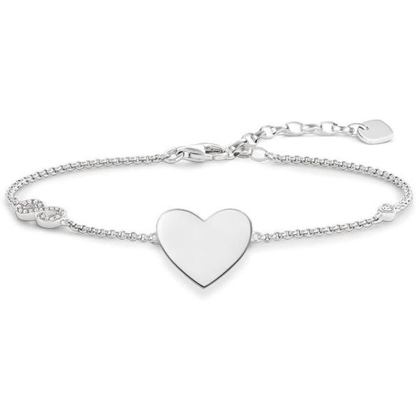 トーマスサボ レディース ジュエリー・アクセサリー ブレスレット【Glam & Soul Heart With Infinity Bracelet】white