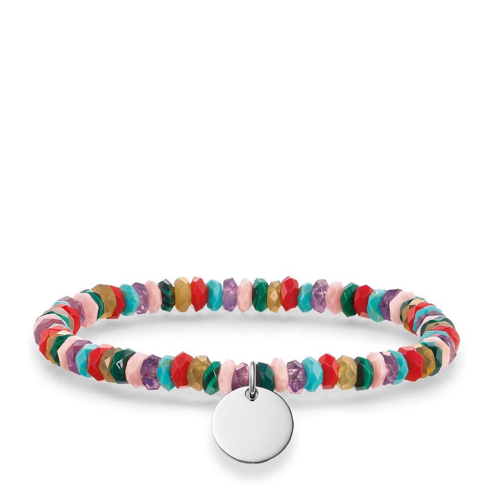 トーマスサボ レディース ジュエリー・アクセサリー ブレスレット【Love Bridge Engravable Tag Bracelet】multi-coloured