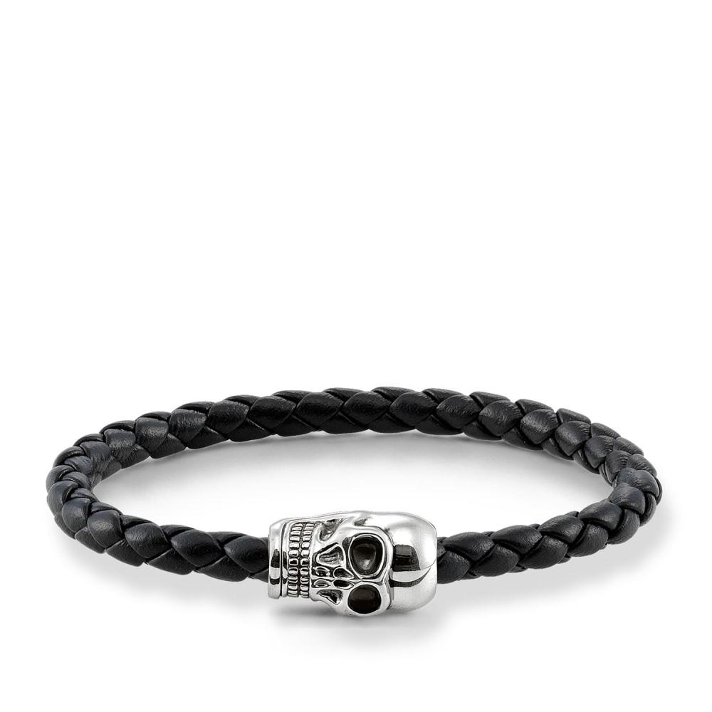 トーマスサボ レディース ジュエリー・アクセサリー ブレスレット【Plaited Silver Skull Unity Bracelet】black