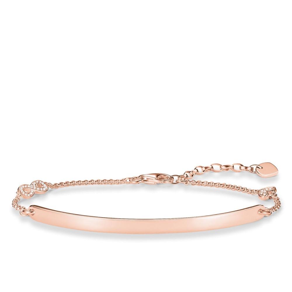 トーマスサボ レディース ジュエリー・アクセサリー ブレスレット【Love Bridge Rose Gold Infinty Bracelet】metallic