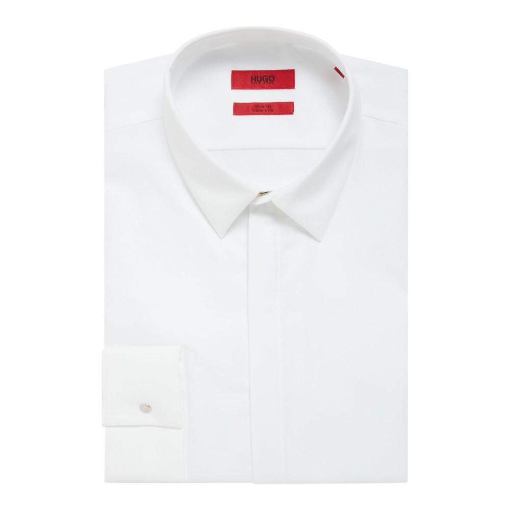 ヒューゴ ボス メンズ トップス シャツ【Klovis Slim Press Stud Shirt】white