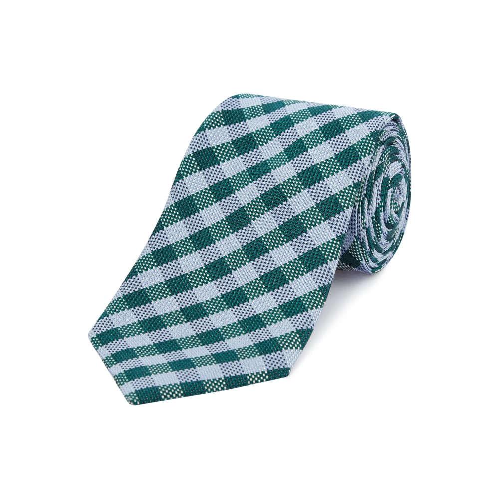 チェスター バリー メンズ ネクタイ【Gingham Tie】green