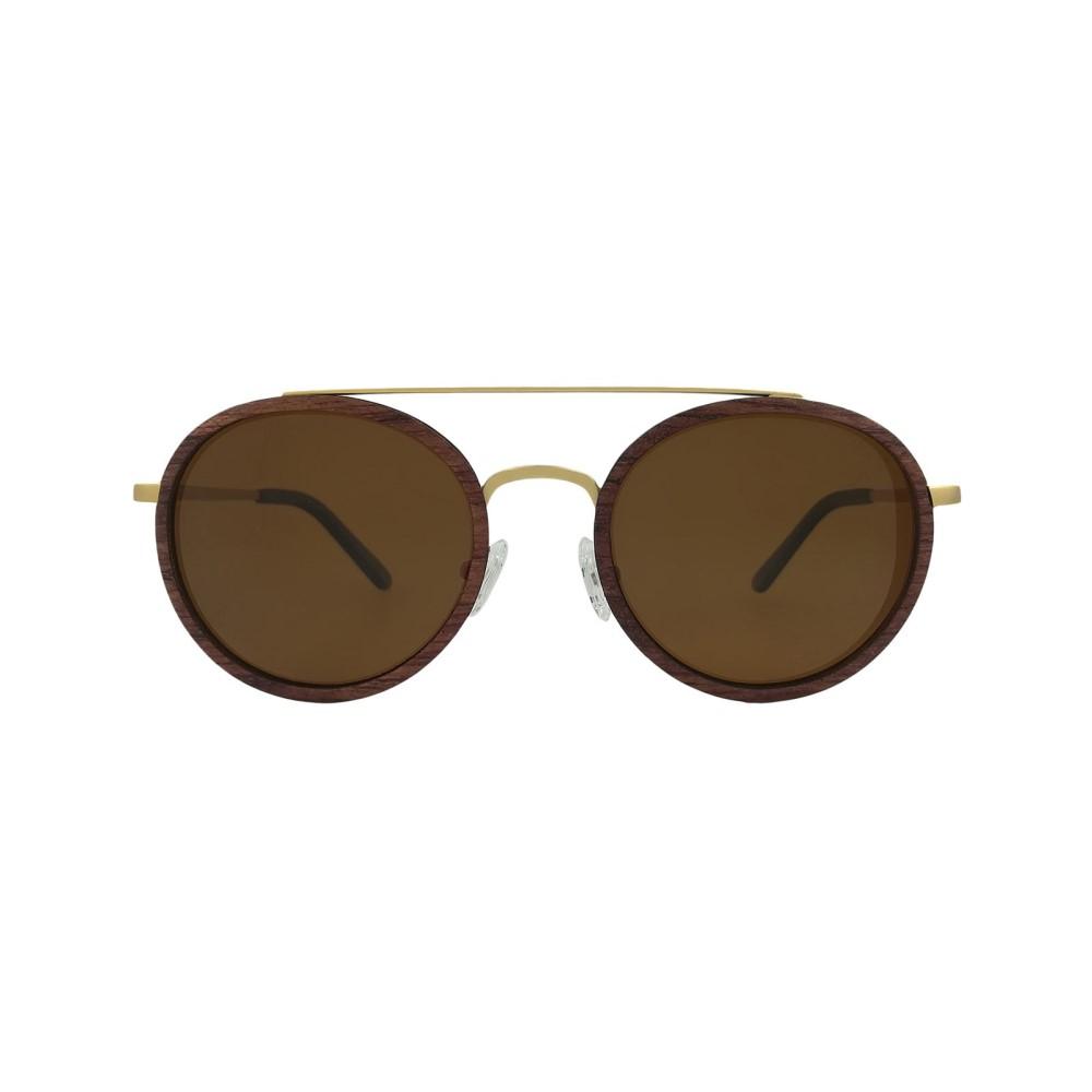 ラヴァンテ メンズ メガネ・サングラス【Rosewood Akita Round Sunglasses】frame colour: gold/brown