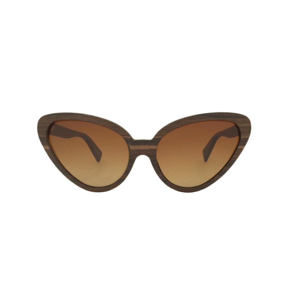 ラヴァンテ メンズ メガネ・サングラス【Padauk Wood Poppy Cats Eyes Sunglasses】frame colour: brown gradient