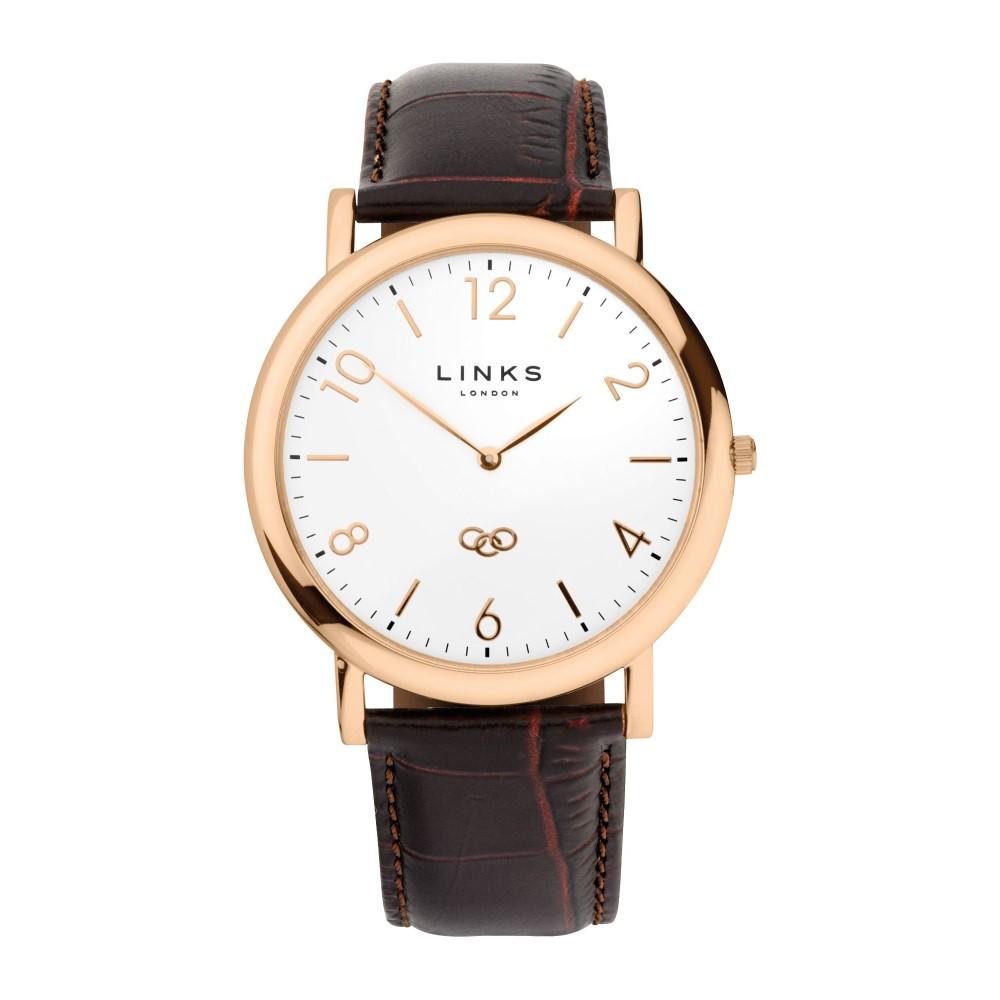 リンクス オブ ロンドン メンズ 腕時計【Noble Classic Watch】rose gold