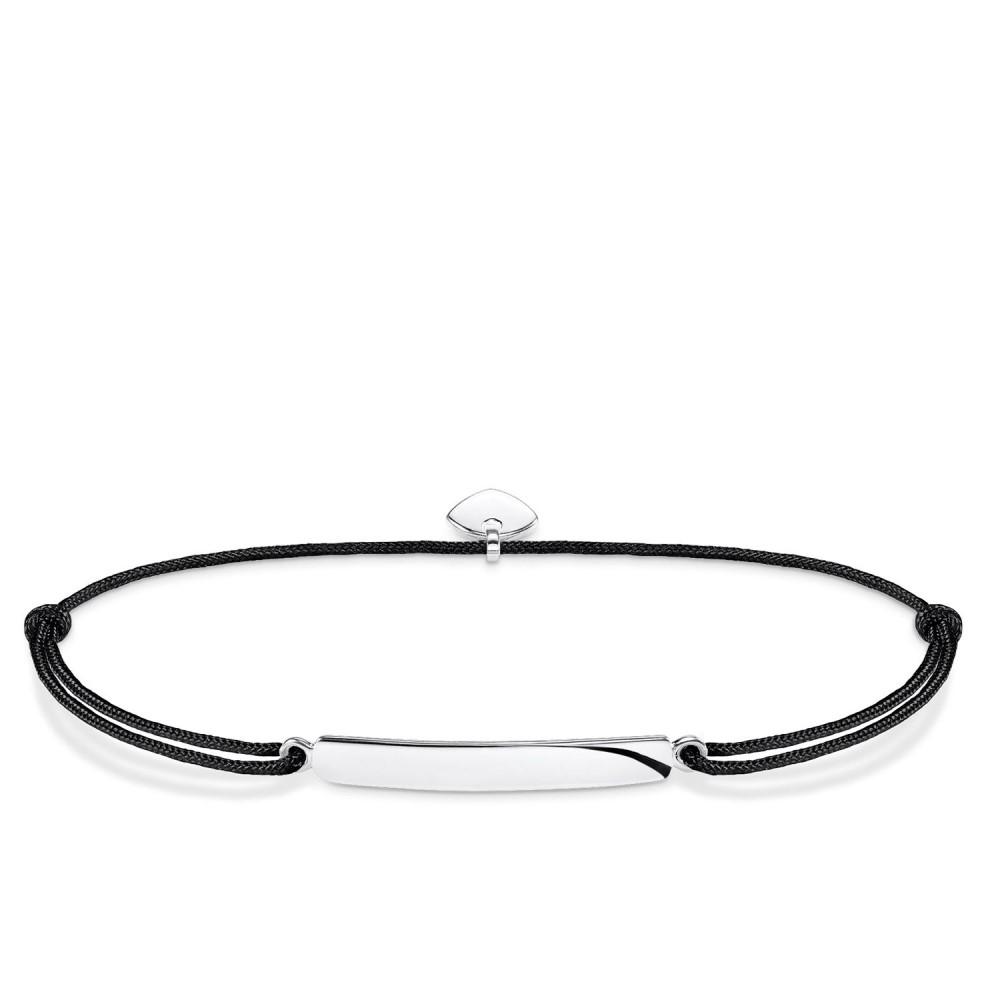 トーマスサボ レディース ジュエリー・アクセサリー ブレスレット【Little Secrets Engravable Bar Bracelet】black