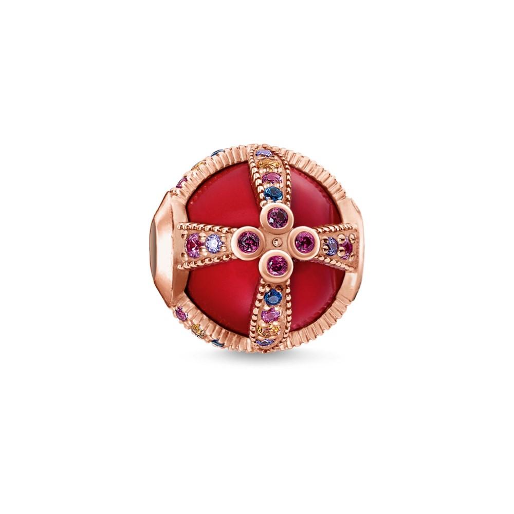 トーマスサボ レディース ジュエリー・アクセサリー【Royalty Red Karma Bead】red