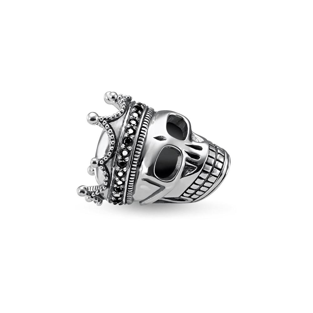 トーマスサボ レディース ジュエリー・アクセサリー【Skull King Karma Bead】black