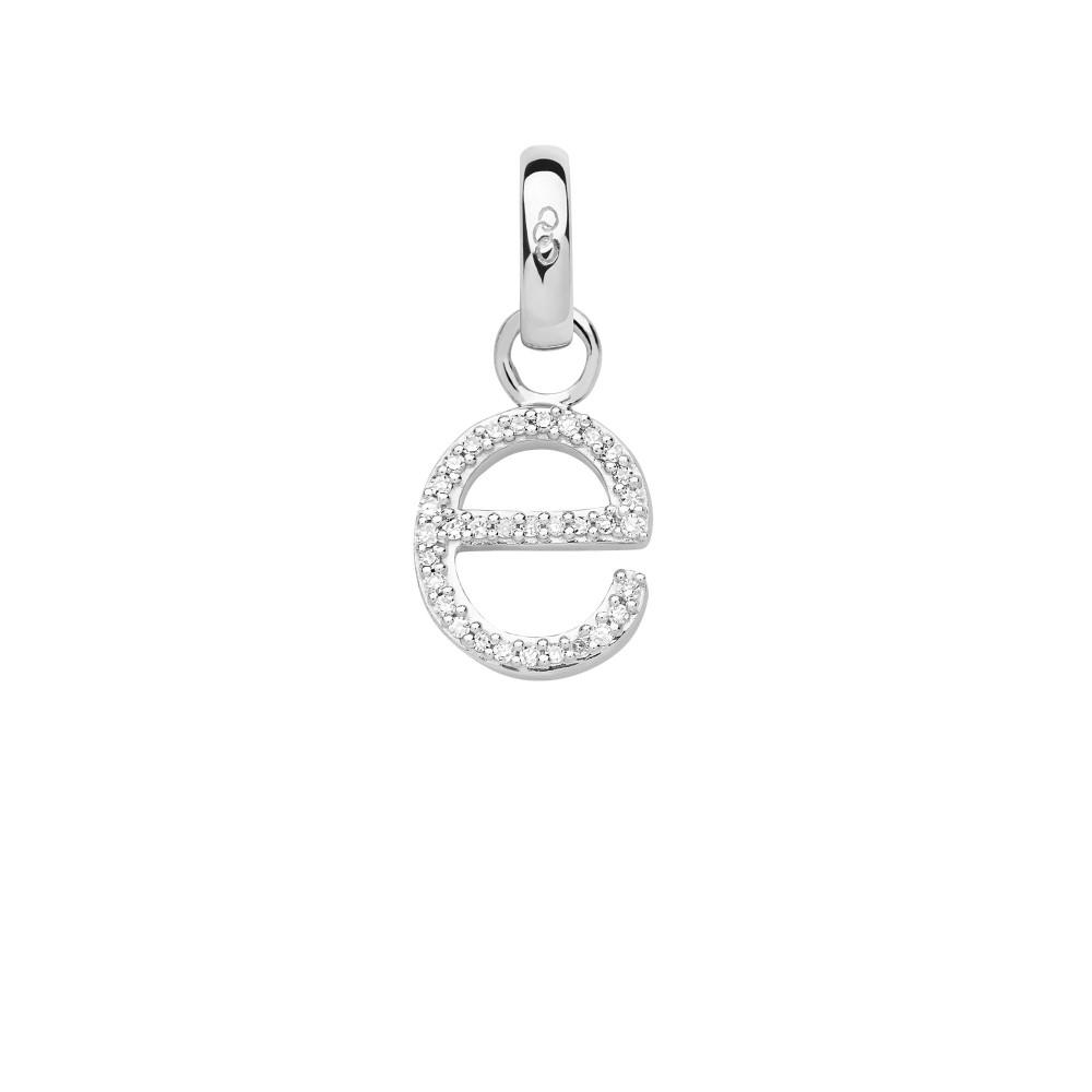 リンクス オブ ロンドン レディース ジュエリー・アクセサリー【Sterling Silver & Diamond E Alphabet Charm】silver