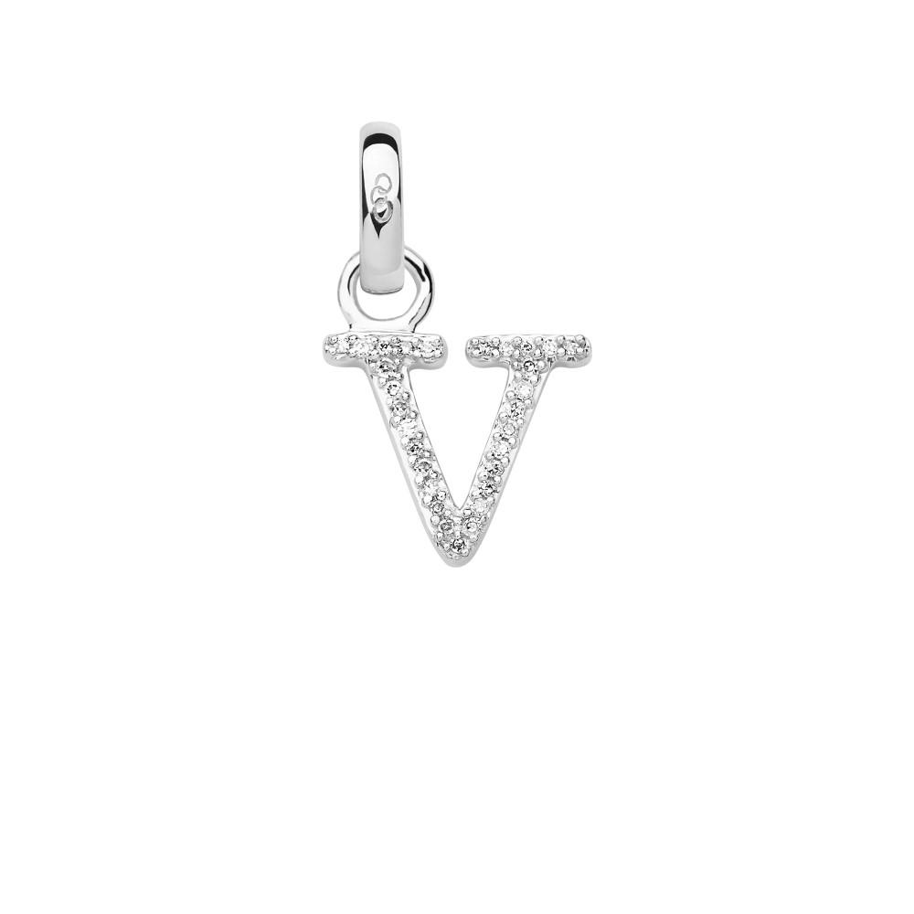 リンクス オブ ロンドン レディース ジュエリー・アクセサリー【Sterling Silver & Diamond V Alphabet Charm】silver