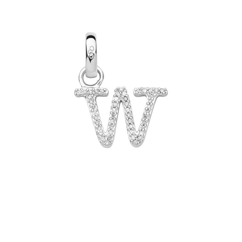 リンクス オブ ロンドン レディース ジュエリー・アクセサリー【Sterling Silver & Diamond W Alphabet Charm】silver