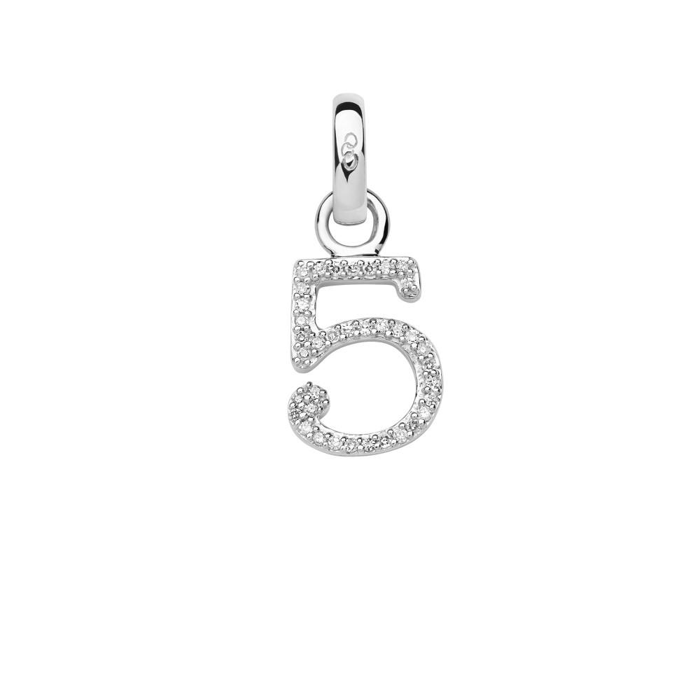 リンクス オブ ロンドン レディース ジュエリー・アクセサリー【Sterling Silver & Diamond Number 5 Charm】silver