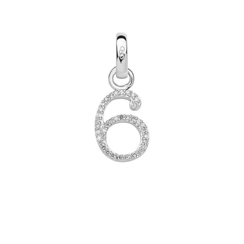 リンクス オブ ロンドン レディース ジュエリー・アクセサリー【Sterling Silver & Diamond Number 6 Charm】silver