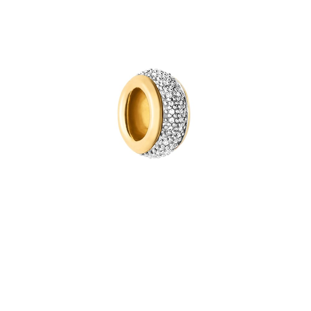 リンクス オブ ロンドン レディース ジュエリー・アクセサリー【18kt Vermeil & White Diamond Bead】silver