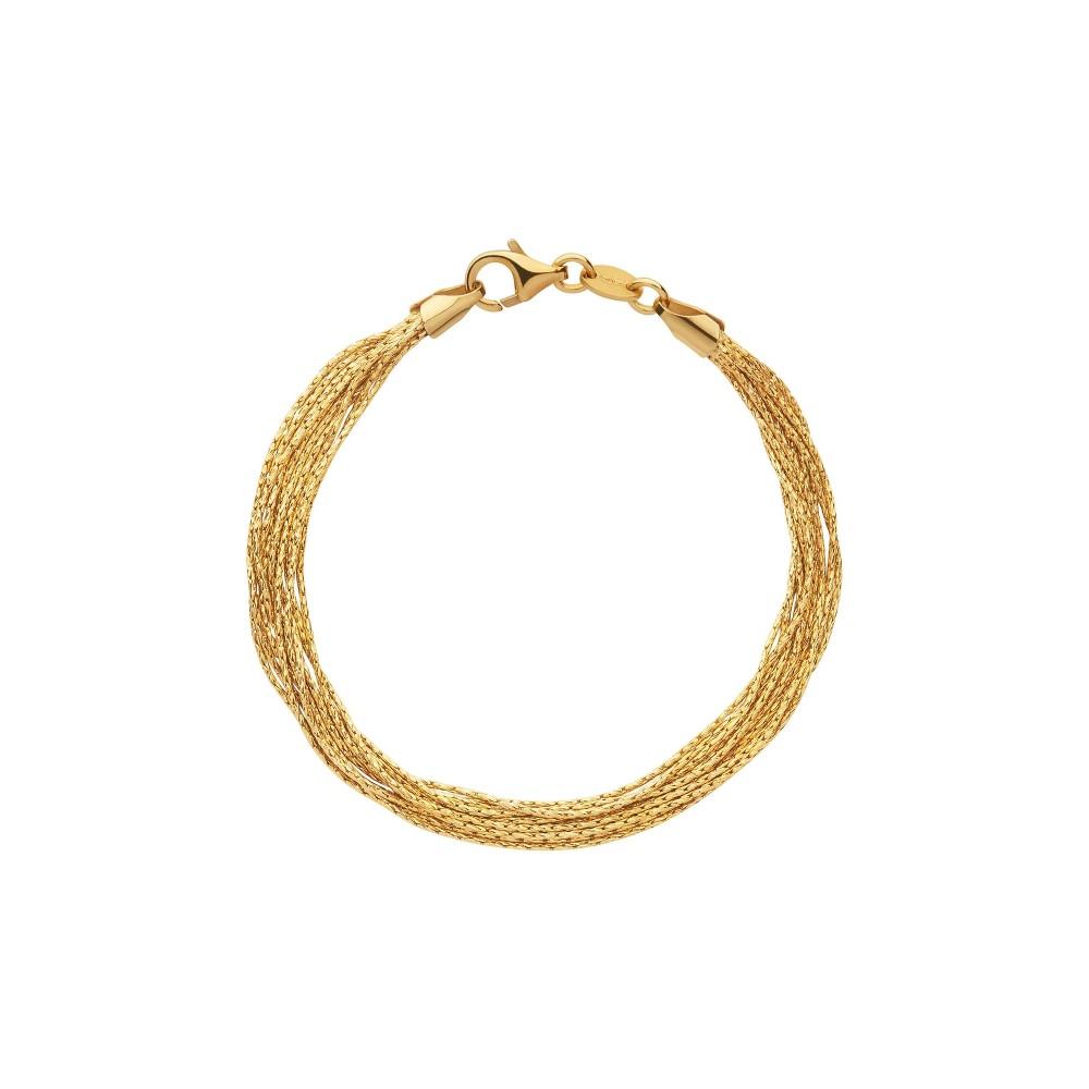 リンクス オブ ロンドン レディース ジュエリー・アクセサリー ブレスレット【Essentials Gold Silk 10 Row Bracelet】gold