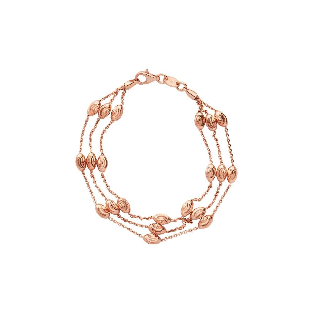 リンクス オブ ロンドン レディース ジュエリー・アクセサリー ブレスレット【Essentials Rose Beaded 3 Row Bracelet】rose gold