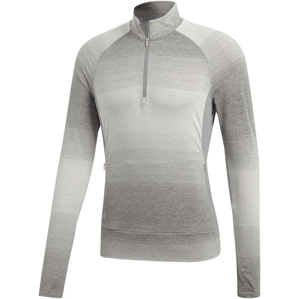 アディダス レディース ゴルフ トップス【Rangewear Half-zip Layering】grey