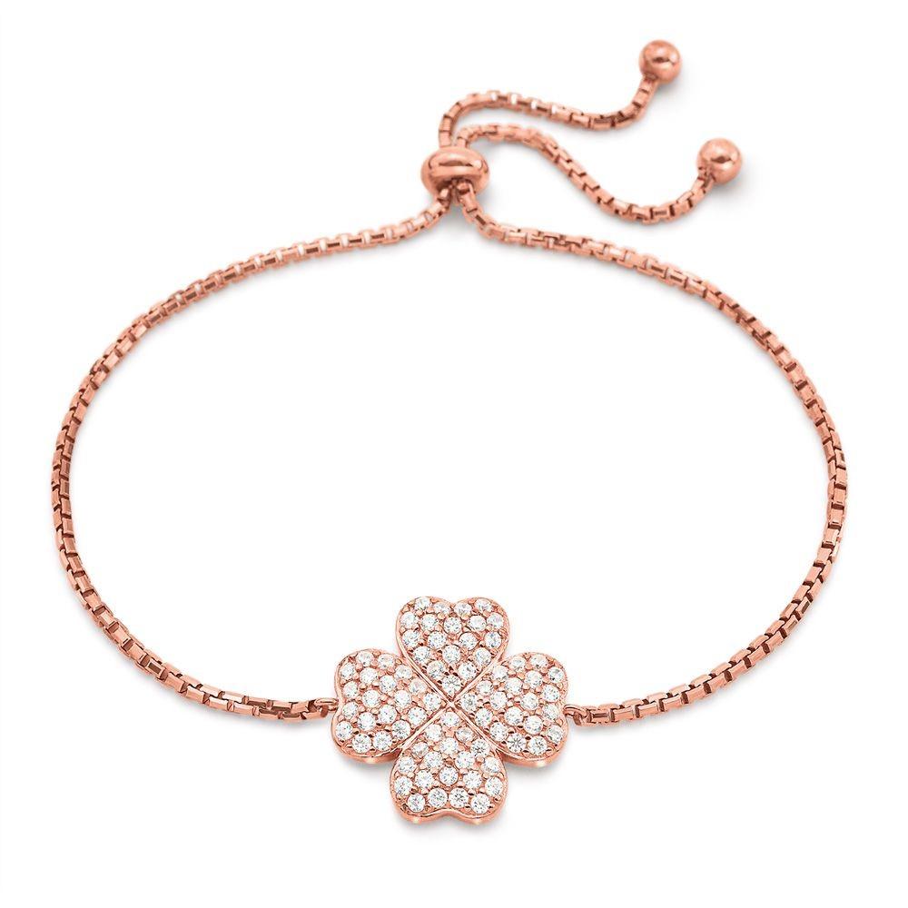 フォリフォリ レディース ジュエリー・アクセサリー ブレスレット【Heart4heart Clover Rose Gold Bracelet】rose gold