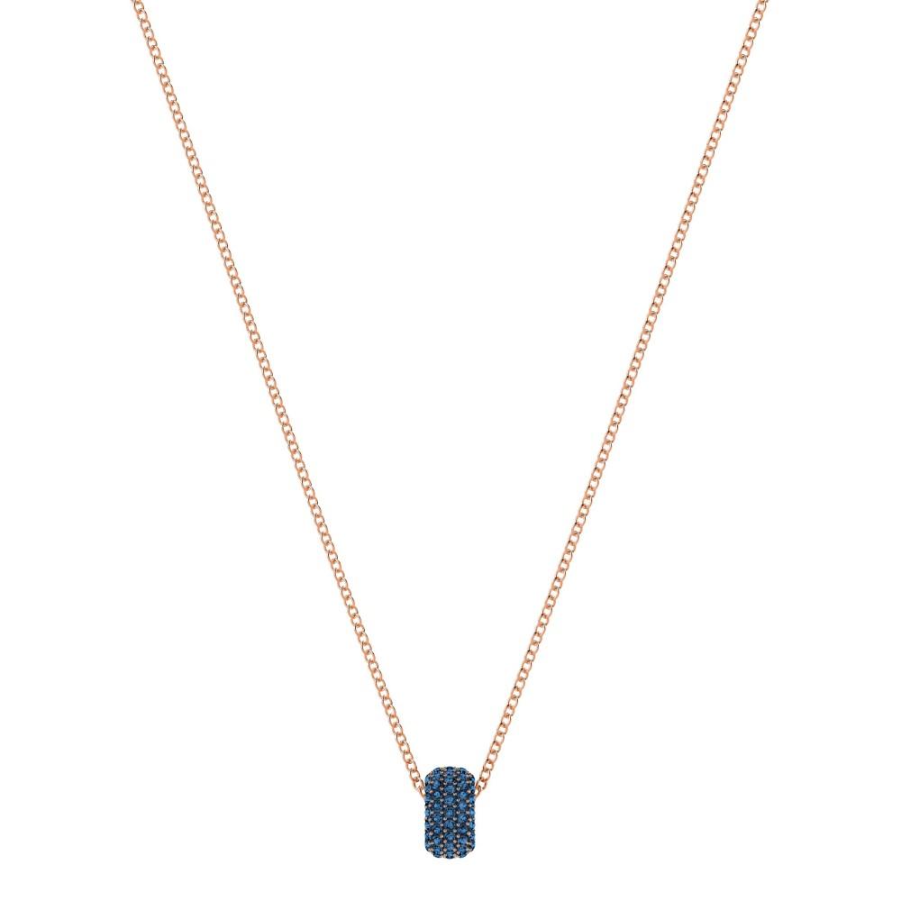 スワロフスキー レディース ジュエリー・アクセサリー【Stone Round Pendant, Blue, Rose Gold Plating】blue
