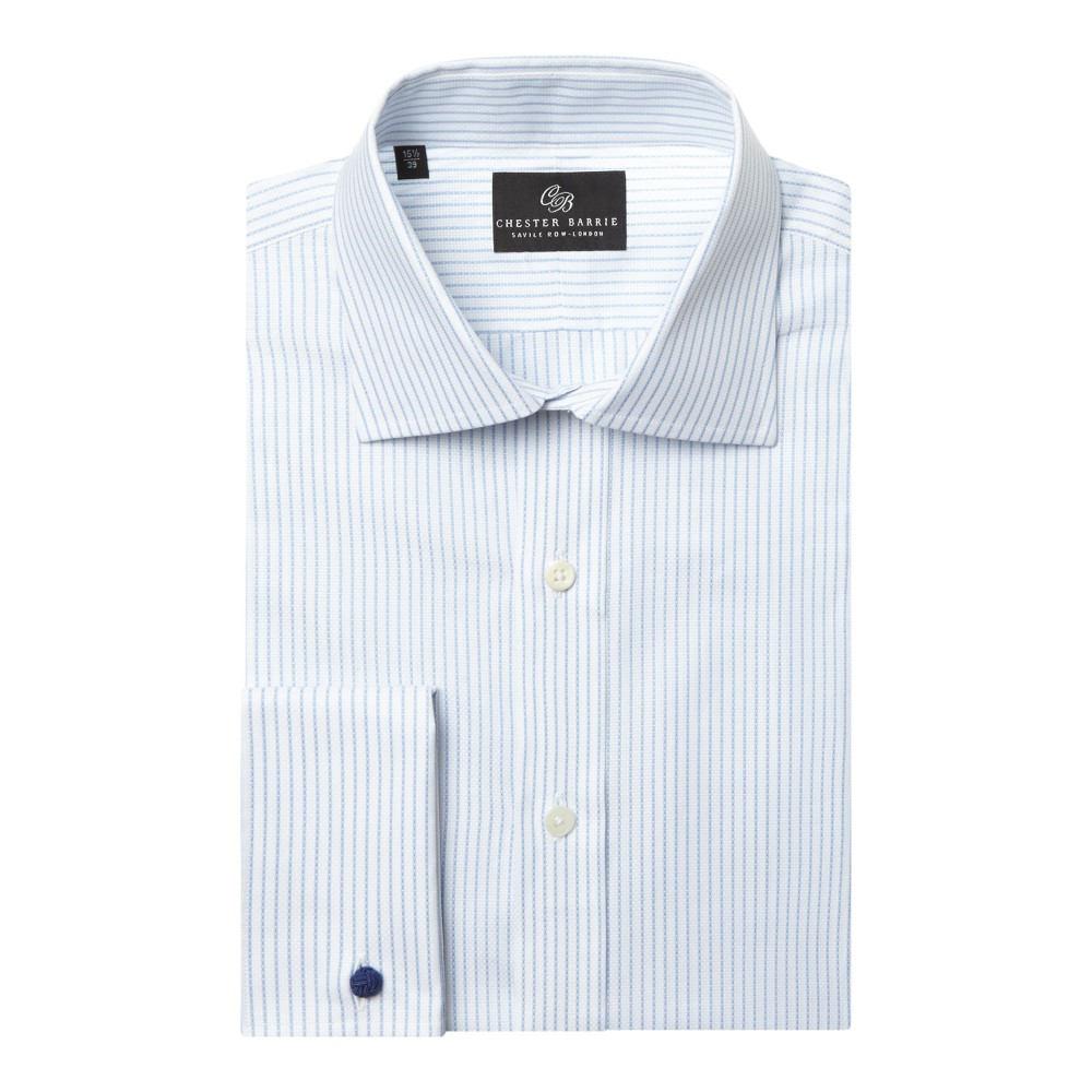 チェスター バリー メンズ トップス シャツ【Textured Stripe Shirt】blue