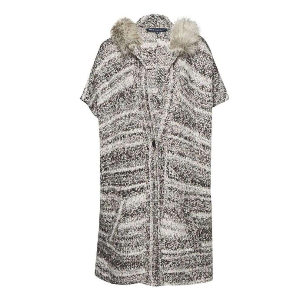フレンチコネクション レディース トップス カーディガン【Irma Melange Knit Cardigan Coat】black multi