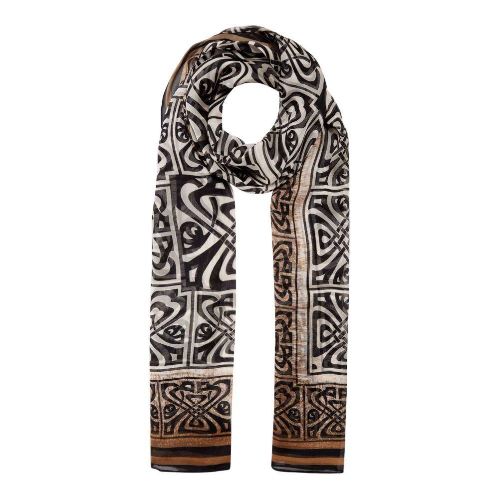 ビバ レディース マフラー・スカーフ・ストール【Magda Logo Silk Rectangle】ivory