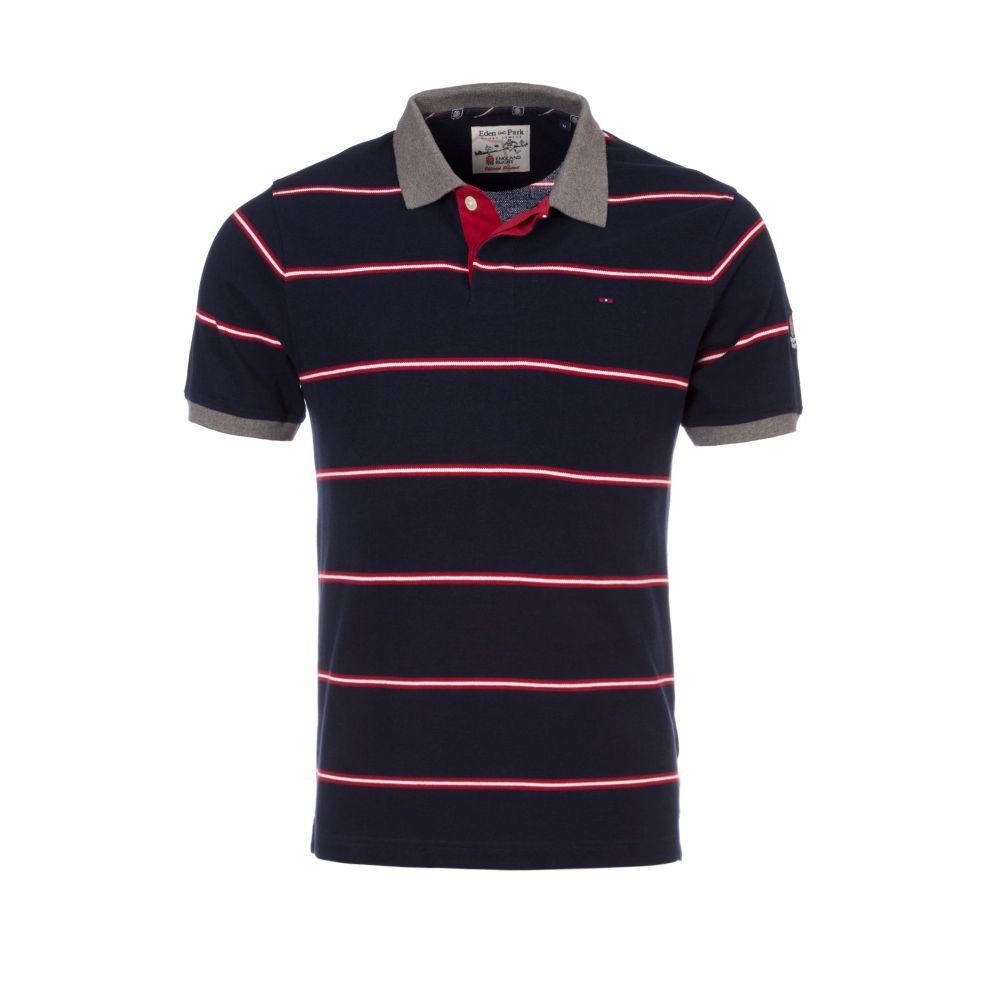 エデン パーク メンズ トップス ポロシャツ【Striped Polo Shirt】navy, 川崎区:56f02390 --- maff.jp