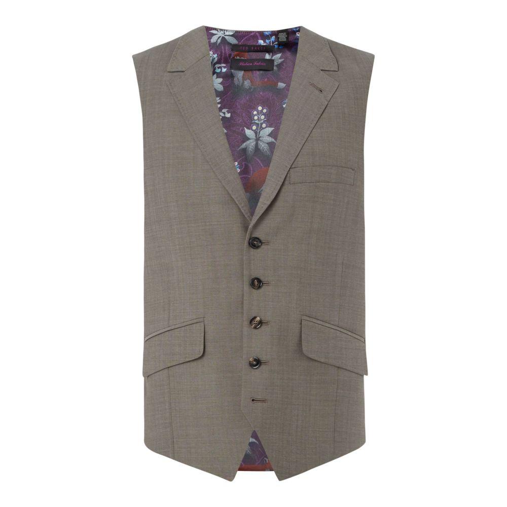 テッドベーカー メンズ トップス ベスト・ジレ【Levi Slim Fit Sterling Plain Waist Coat】grey
