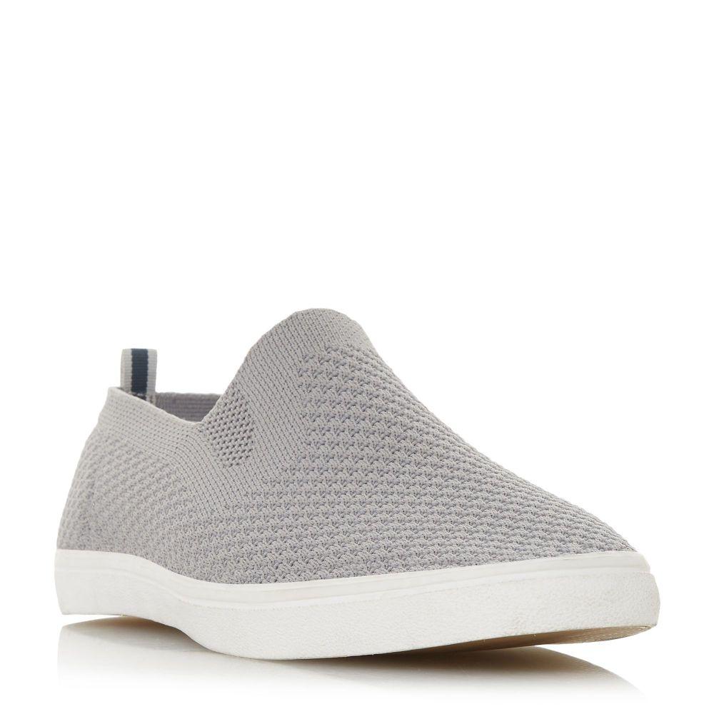 デューン メンズ シューズ・靴 スリッポン・フラット【Fabregas Fly Knit Slip On Shoes】grey