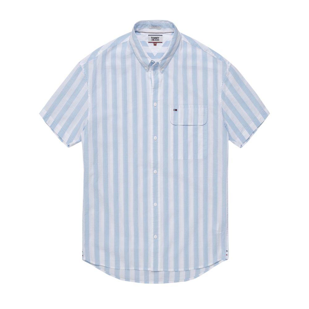トミー ヒルフィガー メンズ トップス シャツ【Tommy Jeans Summer Stripe Shirt】blue