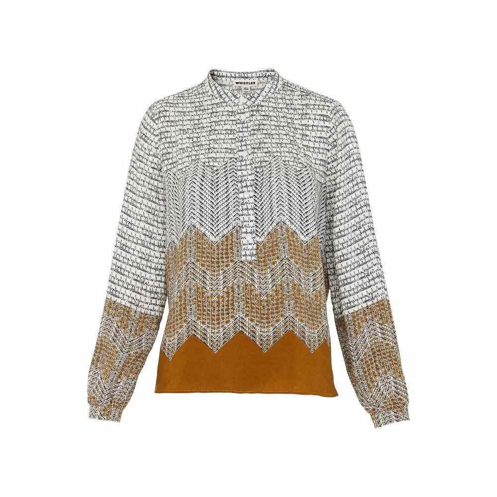 ホイッスルズ レディース トップス ブラウス・シャツ【Heather Aztec Print Shirt】gold