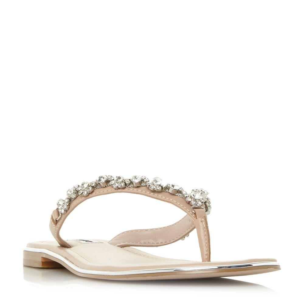 デューン レディース シューズ・靴 サンダル・ミュール【Newbie Jewel Flip Flop Sandals】blush