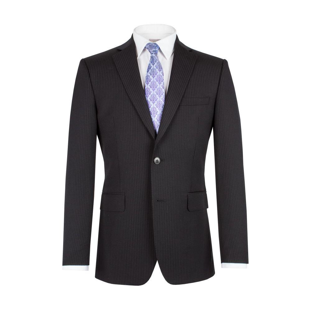 アレクサンダー オブ イングランド メンズ アウター スーツ・ジャケット【Stripe Single Breasted Jacket】black