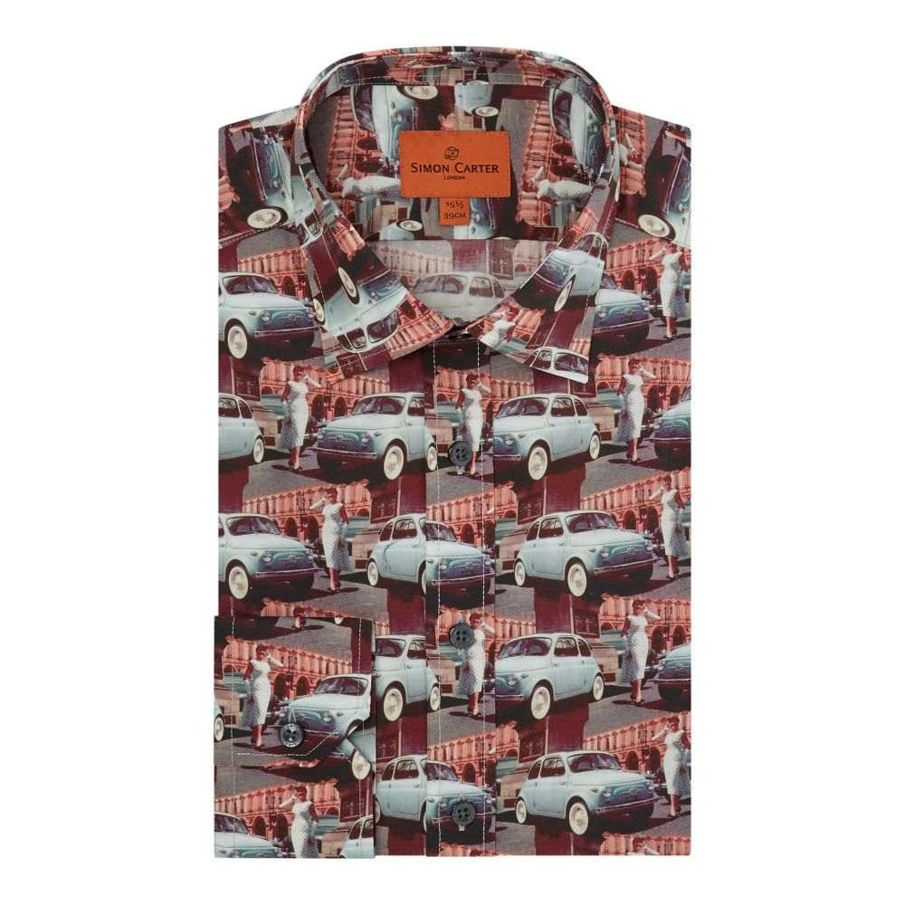 サイモン カーター メンズ トップス シャツ【Vintage Car Print Shirt】multi-coloured
