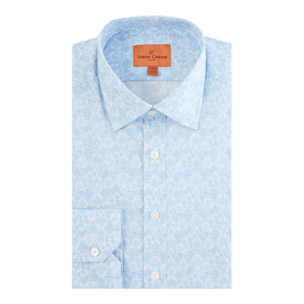 サイモン カーター メンズ トップス シャツ【Balloon Print Shirt】blue