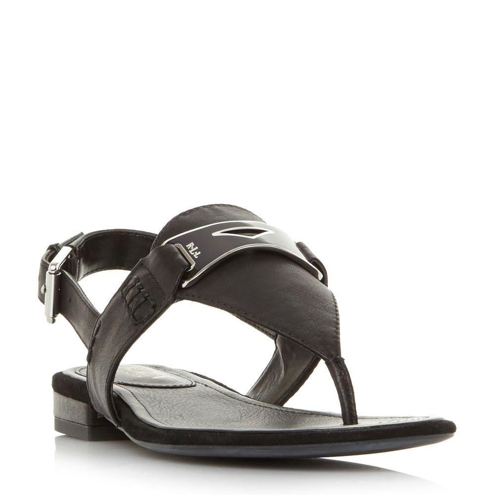 ラルフ ローレン レディース シューズ・靴 サンダル・ミュール【Dayna T-post Sandals】black