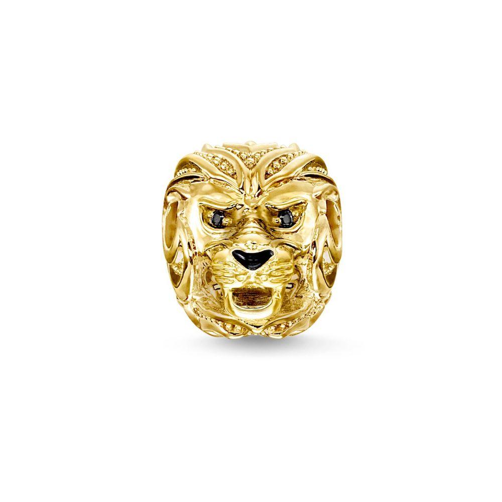トーマスサボ レディース ジュエリー・アクセサリー【Yellow Gold Lion`s Head Karma Bead】metallic