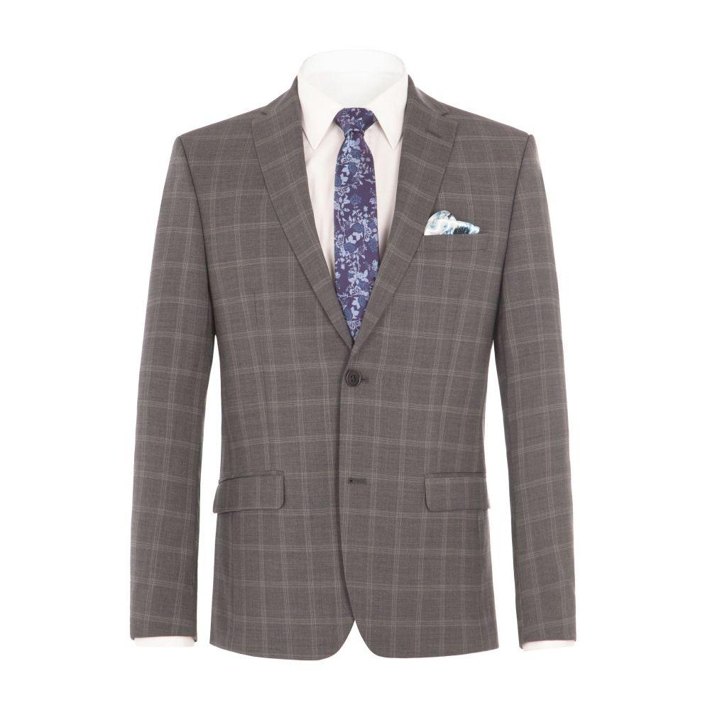 アレクサンダー オブ イングランド メンズ アウター スーツ・ジャケット【Crosswall Grey Check Suit Jacket】grey