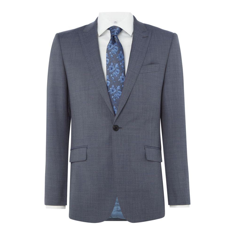 リチャード ジェームス メンズ アウター スーツ・ジャケット【Sharkskin Daniel Suit Jacket】slate