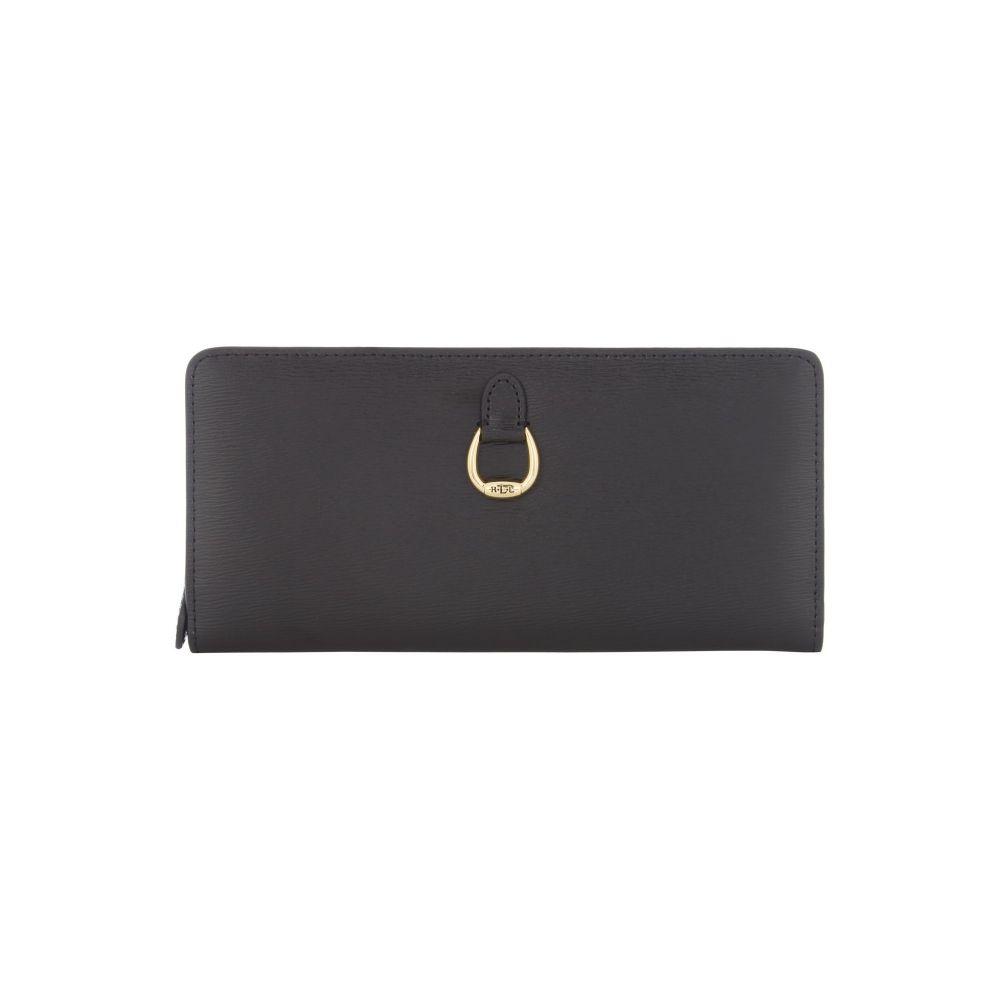 8bce5cb3c341 ラルフ ローレン レディース 財布【Large Snap Continental Wallet】black