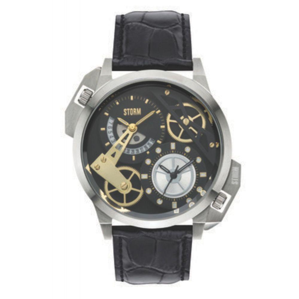 ストーム メンズ 腕時計【Dualon Leather Watch】