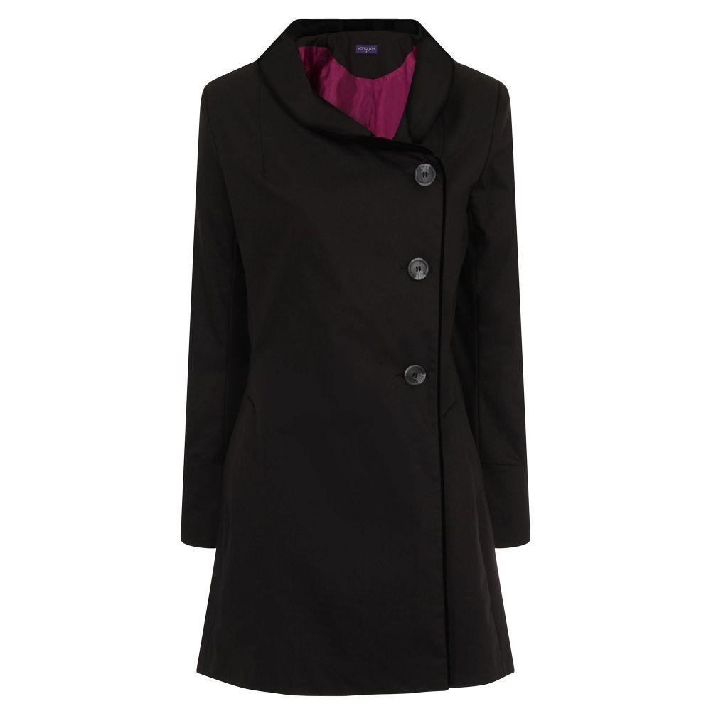 ホットスカッシュ レディース アウター レインコート【Black Rain & Stain Resistant Coat】black