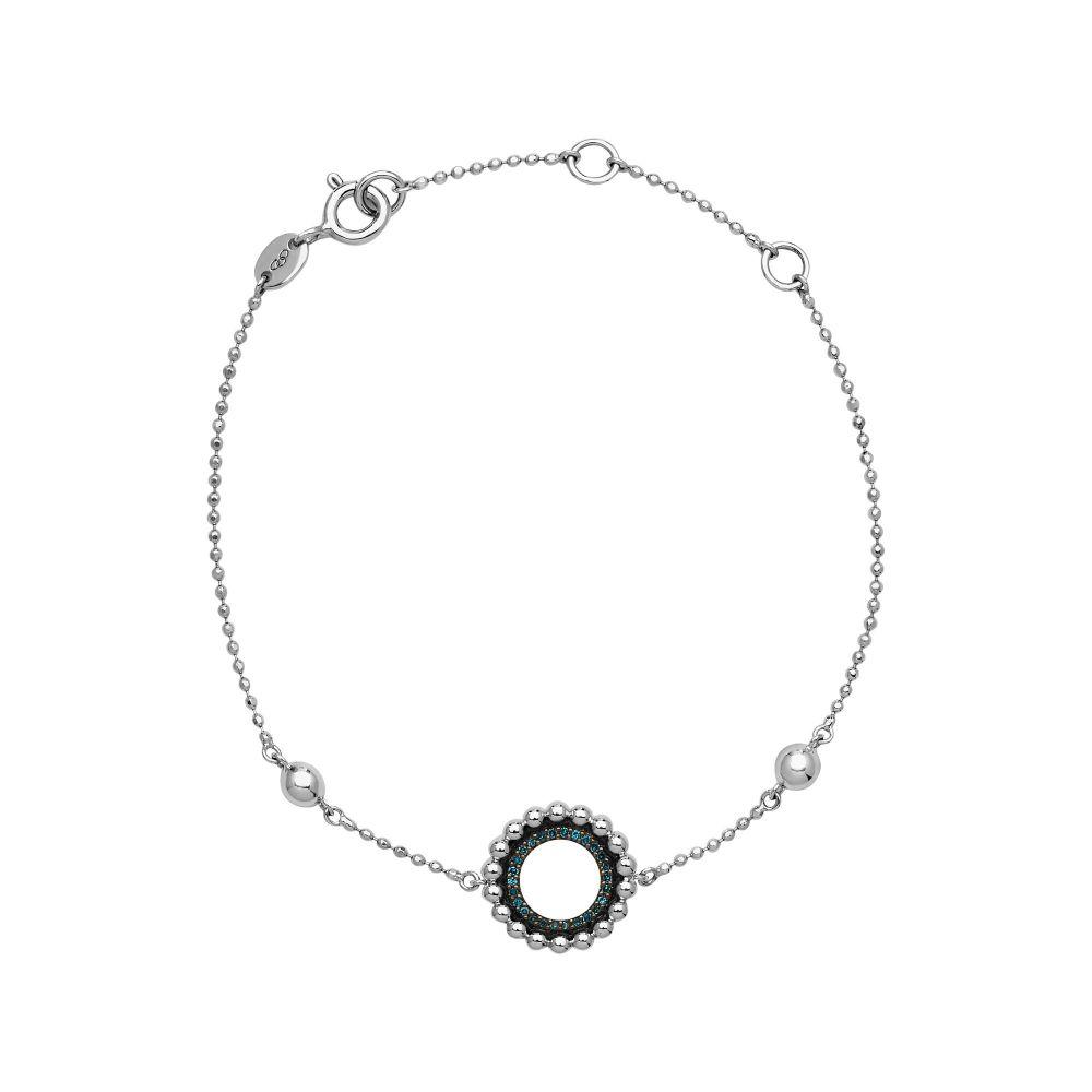 リンクス オブ ロンドン レディース ジュエリー・アクセサリー ブレスレット【Effervescence Blue Diamond Bracelet】silver