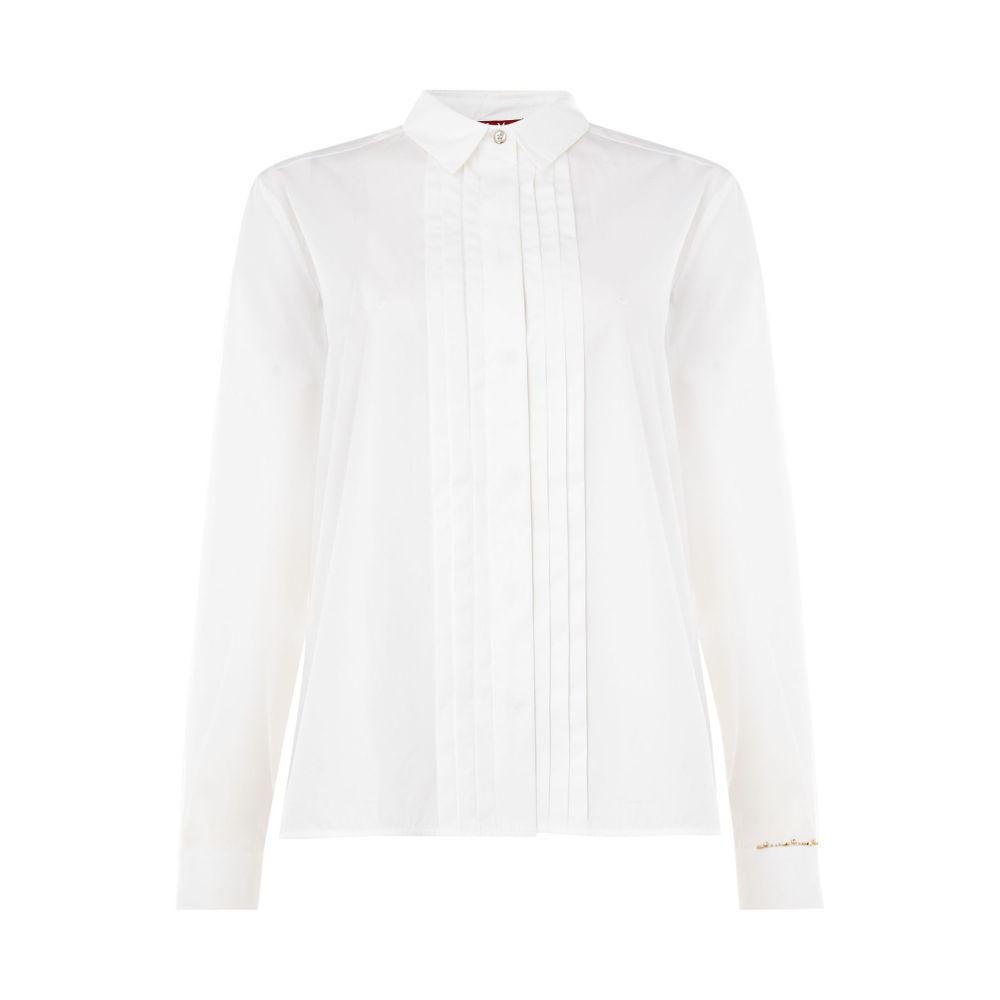 マックスマーラ レディース トップス ブラウス・シャツ【Button Up Formal Shirt】white