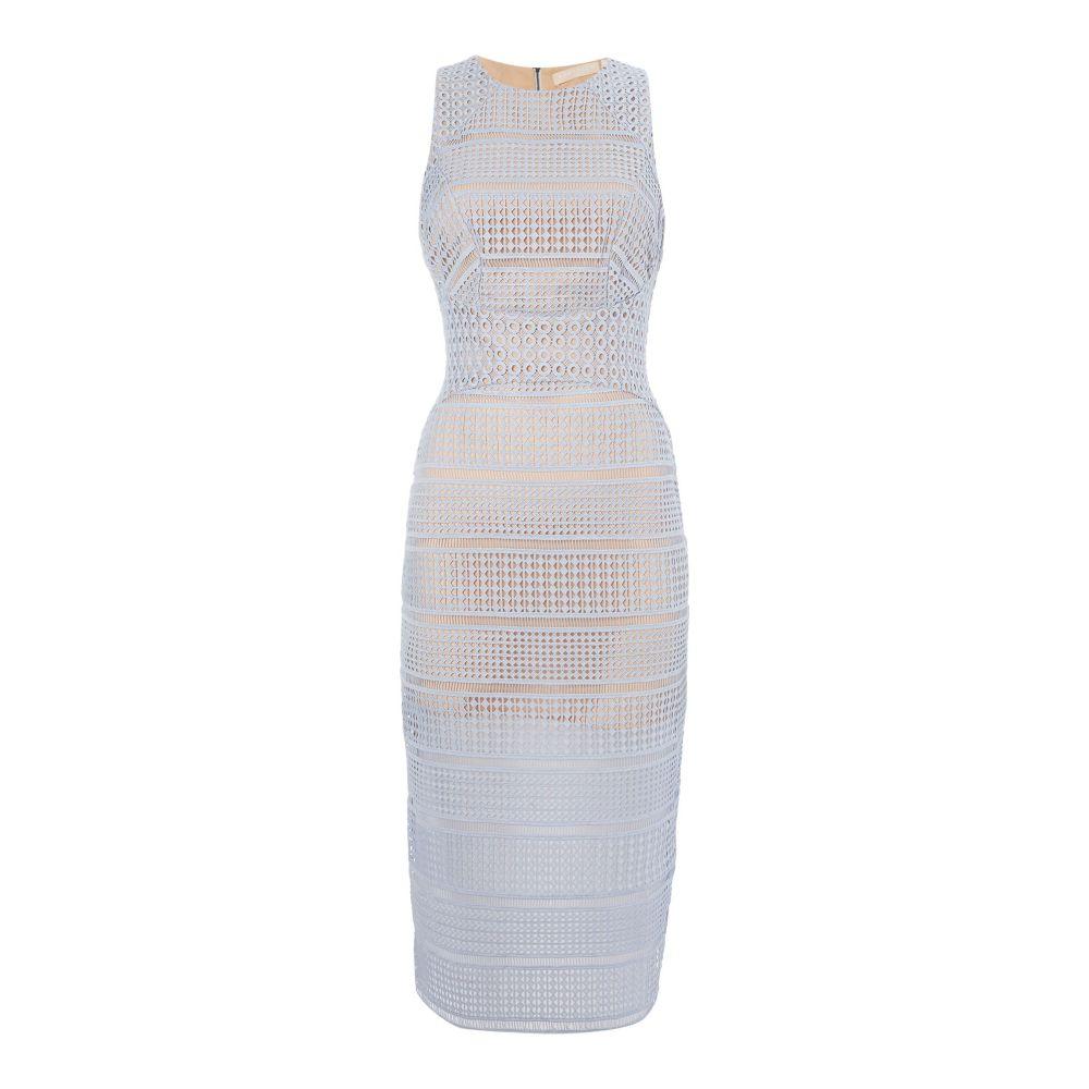 キープセイク レディース ワンピース・ドレス ワンピース【Sleeveless Embroidered Pencil Dress】pastel blue