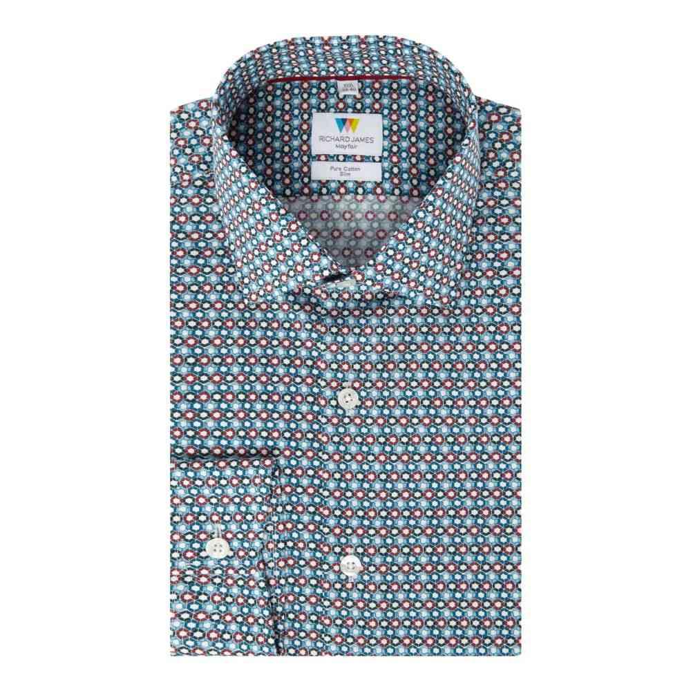 リチャード ジェームス メンズ トップス シャツ【Hexagon Tile Print Slim Fit Shirt】multi-coloured